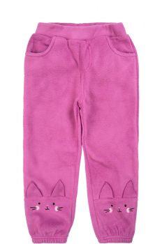 """Флисовые штаны для девочек Bonito kids 2-5 лет """"Cat"""" сиреневые"""