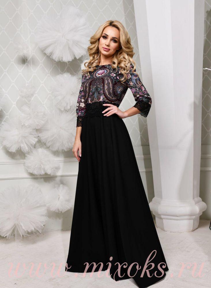 Платье вечернее с кружевом