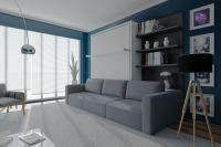 Шкаф-кровать с диваном Атом