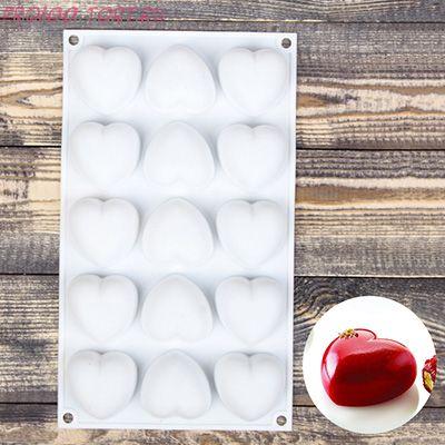 """Форма для муссовых десертов и выпечки 29,8×17,3 см """"Сердца"""", 15 ячеек"""