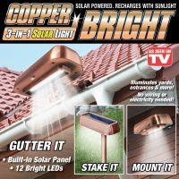 Уличный светильник на солнечной батарее Copper Bright (2)