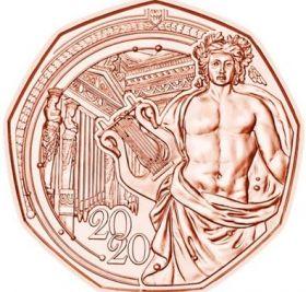 150 лет Венской филармонии (Новогодняя монета) 5 евро Австрия 2020