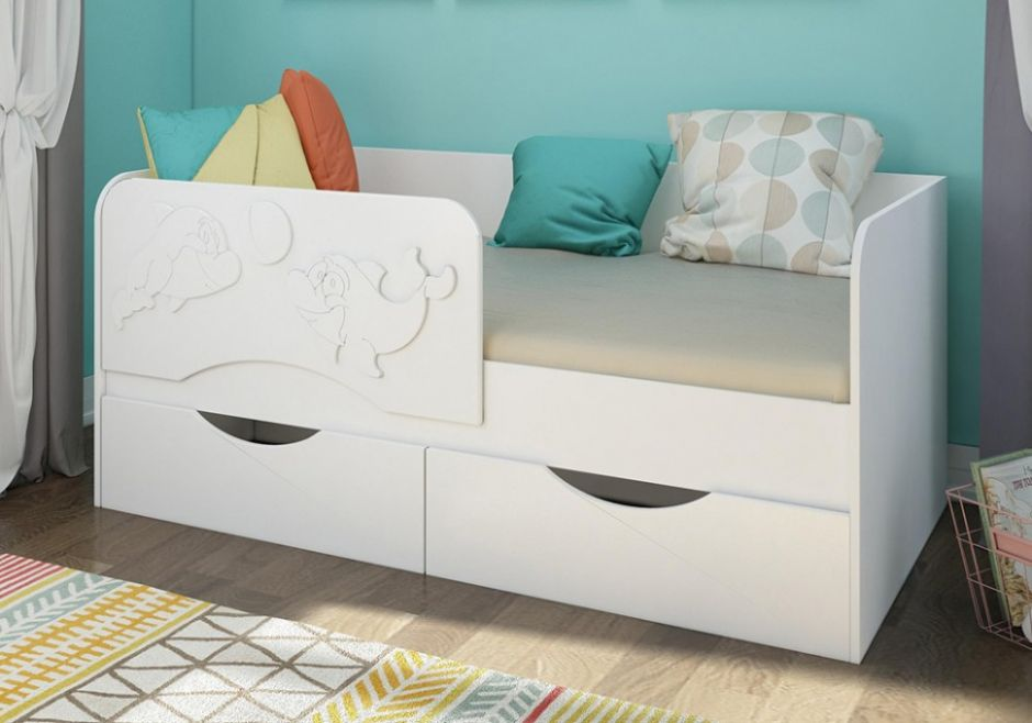 Детская кровать Дельфин 2 МДФ 1,4 м