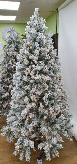 Искусственная елка Атлантида 215 см 264 ламп заснеженная