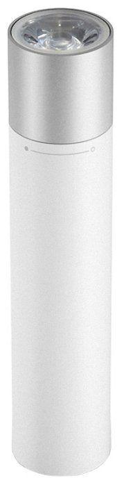 Универсальный внешний аккумулятор (Power Bank) Xiaomi Flashlight Power Bank 3350 (3350 mAh) (white)