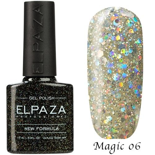 Гель лак ELPAZA MAGIC GLITTER 10 мл АЛМАЗ 06