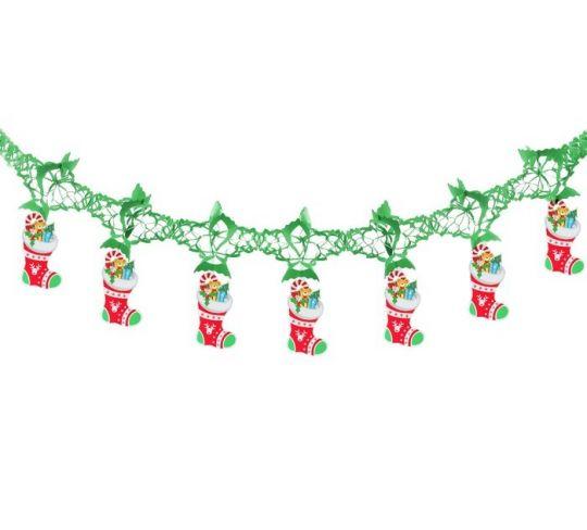 Гирлянда новогодняя Чулок с подарками 3d