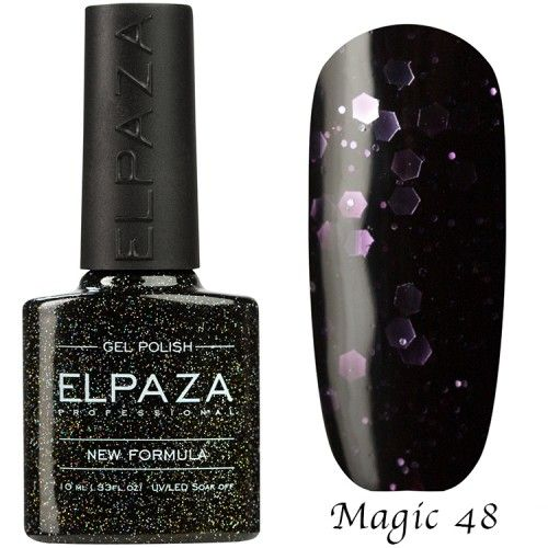 Гель лак ELPAZA MAGIC GLITTER 10 мл  ФОРТУНА 48