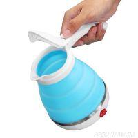 Складной дорожный электрический чайник Collapsible Silicone, 600 мл., Цвет: Синий