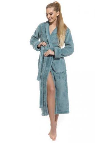 Пушистый удлиненный халат Moderne et leger тиффани