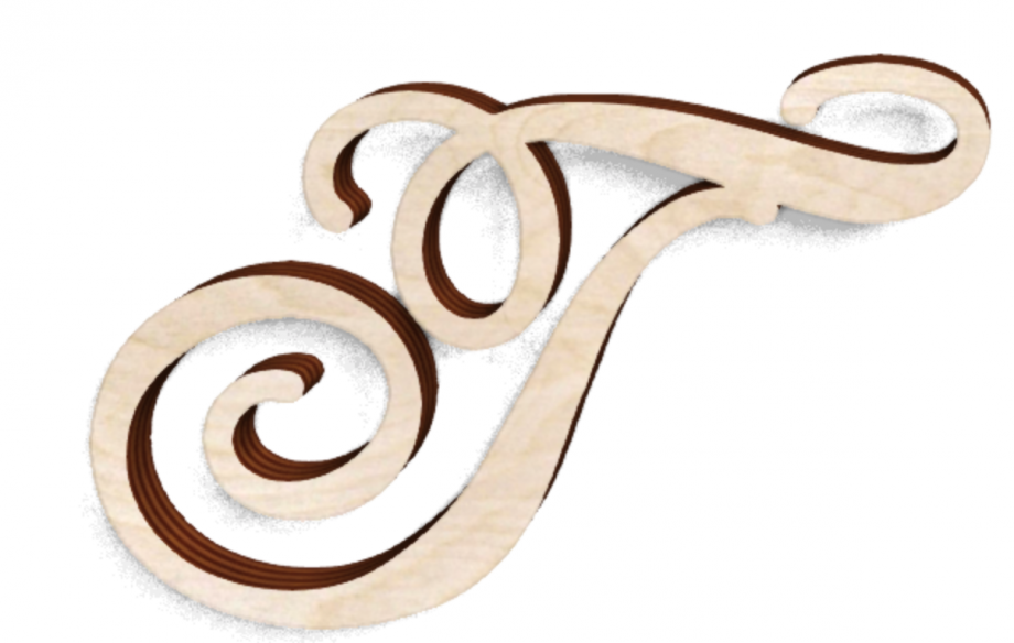 Деревянная буква Г