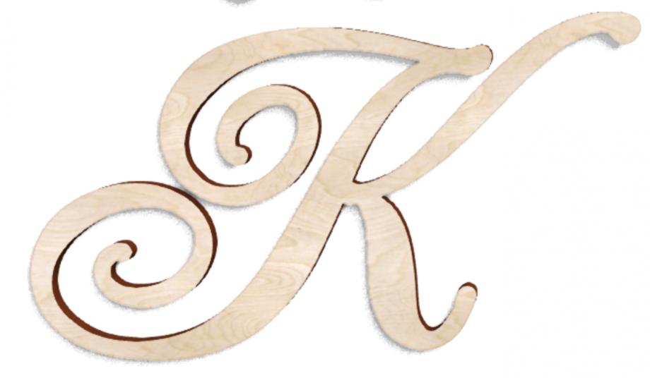 Деревянная буква К
