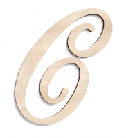 Деревянная буква С