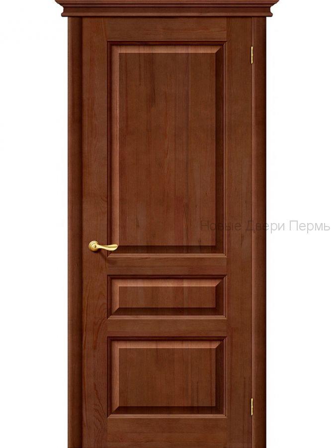 """""""М5"""" ПГ Т-06 Темный Лак со стеклом Дверь межкомнатная из массива сосны"""