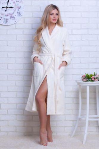 Женский облегченный махровый халат Light