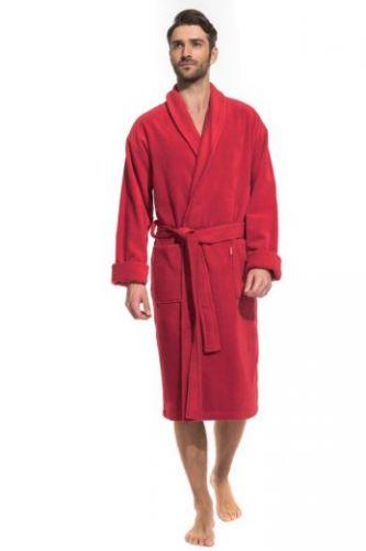 Мужской махровый халат Optimum красный