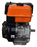 LIFAN 192FD-2T 18A (KP460 7A) 4-хтактный, одноцилиндровый двигатель мощностью 20 л.с. воздушное охлаждение, вал 25 мм, объем 460см³, ручной стартер, катушка 7А, вес 37 кг.