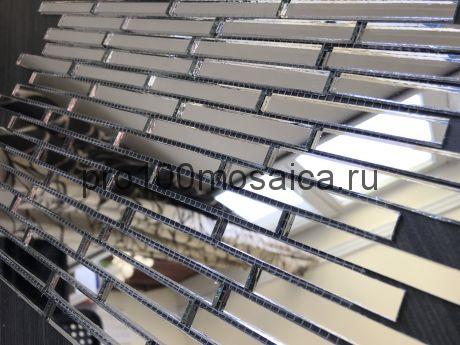 S74 Серебряное зеркало. Мозаика зеркальная серия VANTAGGIO, 347*190*4 мм (VIVERE)