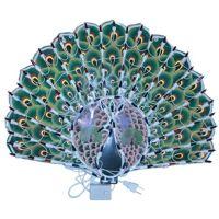 Светодиодное панно новогоднее, Павлин, 40х50 см (3)