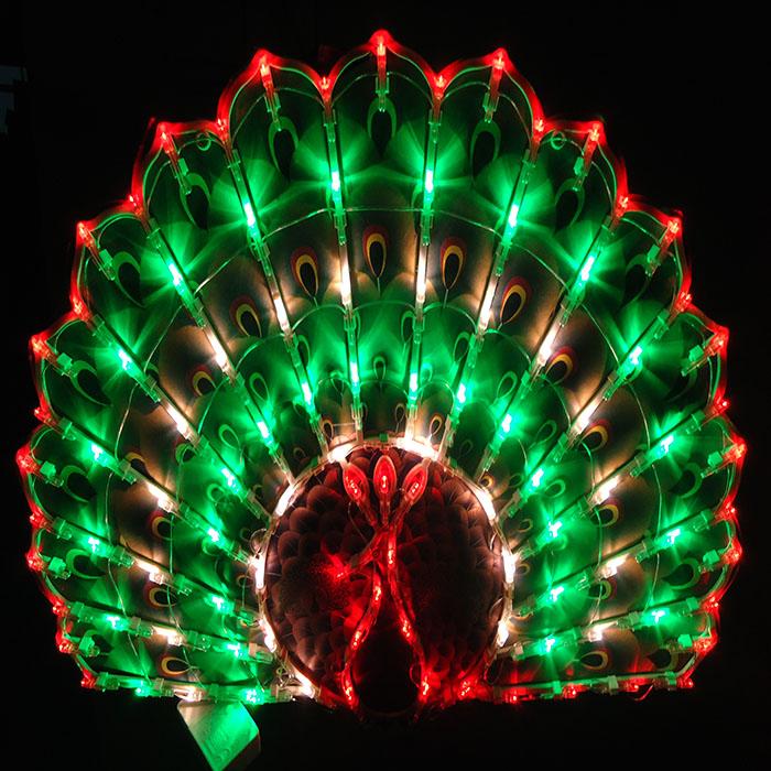 Светодиодное панно новогоднее, Павлин, 40х50 см