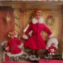 """Куклы Барби, Стейси и Келли, Рождественский сет """"Праздничные сестры"""" - HOLIDAY SISTERS Barbie, Kelly, Stacie Gift Set dolls set 1999"""
