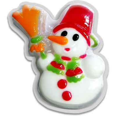 Liss Kroully Skin Juice Подарочное мыло туалетное фигурное Снеговик с метлой