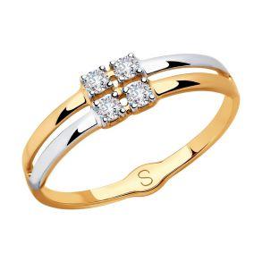 Кольцо из золота со Swarovski Zirconia 81010418 SOKOLOV