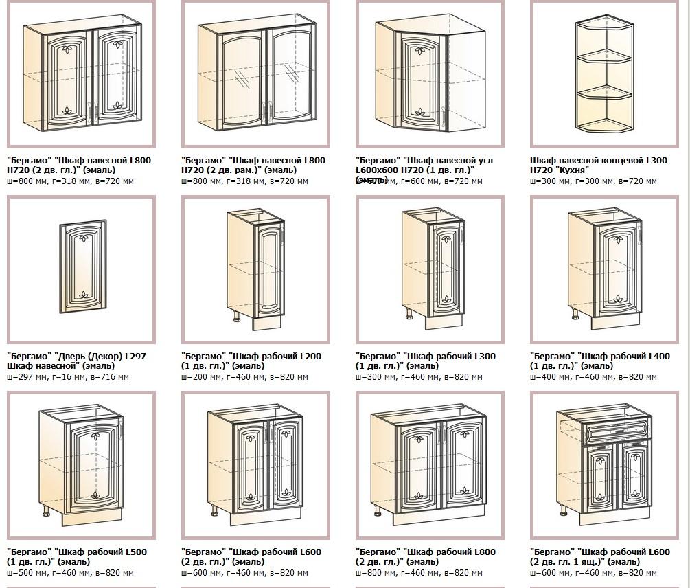 Кухня Бергамо МДФ с крашенными фасадами угловая