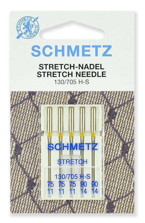 Иглы Schmetz стрейч, набор №75-90 (5шт.)