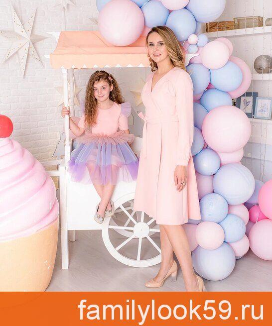 Селестия 2, комплект платьев для мамы и дочки