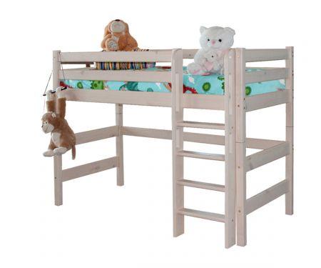 Полувысокая кровать Соня с прямой лестницей (вариант 5)