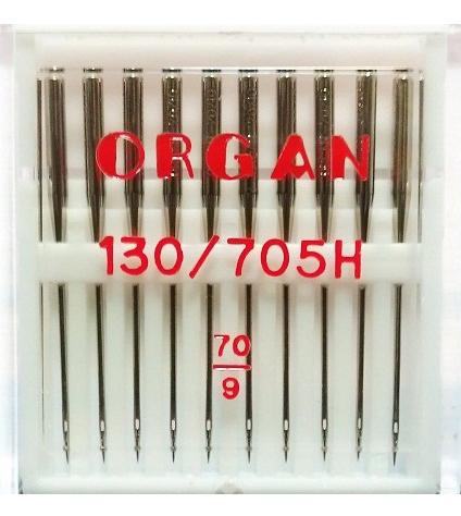 Иглы ORGAN стандартные №70 (10 шт.)