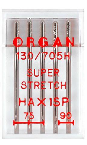 Иглы ORGAN супер стрейч набор  №75-90 (5шт.)