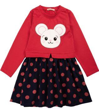 """Платье для девочек Bonito 2-6 лет """"Мышонок"""" красное"""