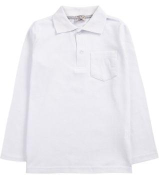 """Рубашка-поло для мальчика 7-11 лет. Bonito """"Casual"""" белая"""