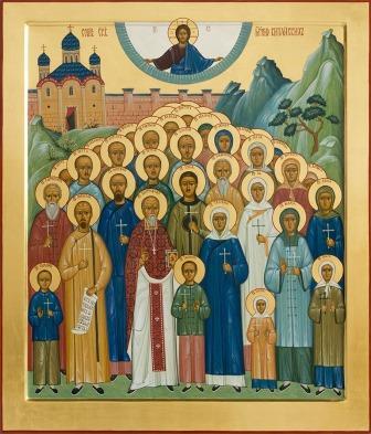 """Икона в рамке 15*15 """"Собор святых новомучеников Китайских"""""""