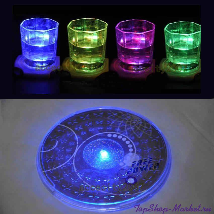 Подставка под бокалы с цветной подсветкой Colorful Coaster