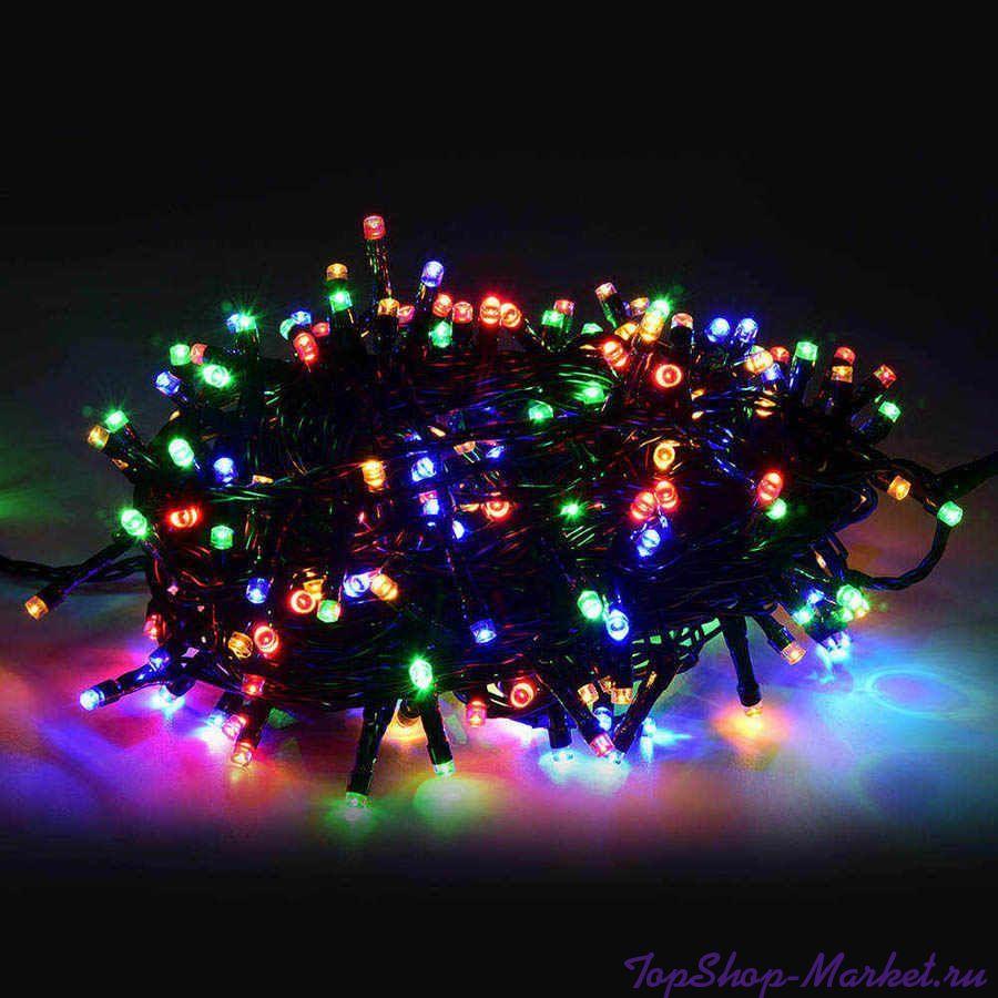Светодиодная гирлянда 400 LED 19м, Разноцветный