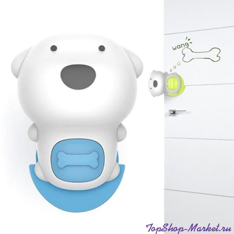 Детский ограничитель для двери Beideli Cute Dog Door File, Цвет: Голубой