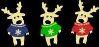 Новогодняя игрушка олень в свитере