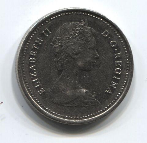 25 центов 1980 года Канада VF