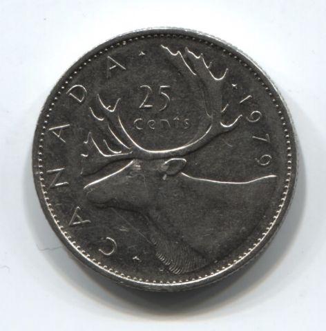 25 центов 1979 года Канада VF