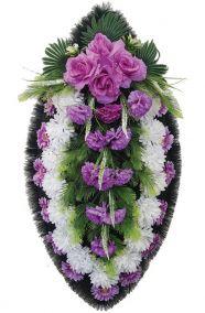 Траурный венок из искусственных цветов - Классика #11