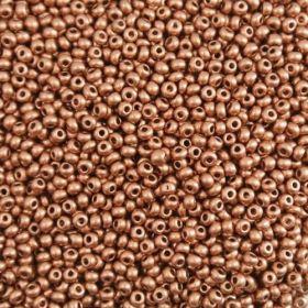 Бисер чешский 01770 непрозрачный рыже-бронзовый блестящий Preciosa 1 сорт