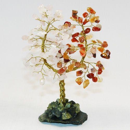 Дерево Любви - Сердолик и Розовый кварц