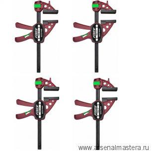 Комплект 4 шт Струбцин Extra Quick-Piher 30х8см быстрозажимных 52630-4 М00015949