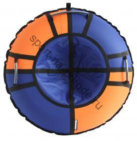 Тюбинг Hubster Хайп синий-оранжевый 120 см