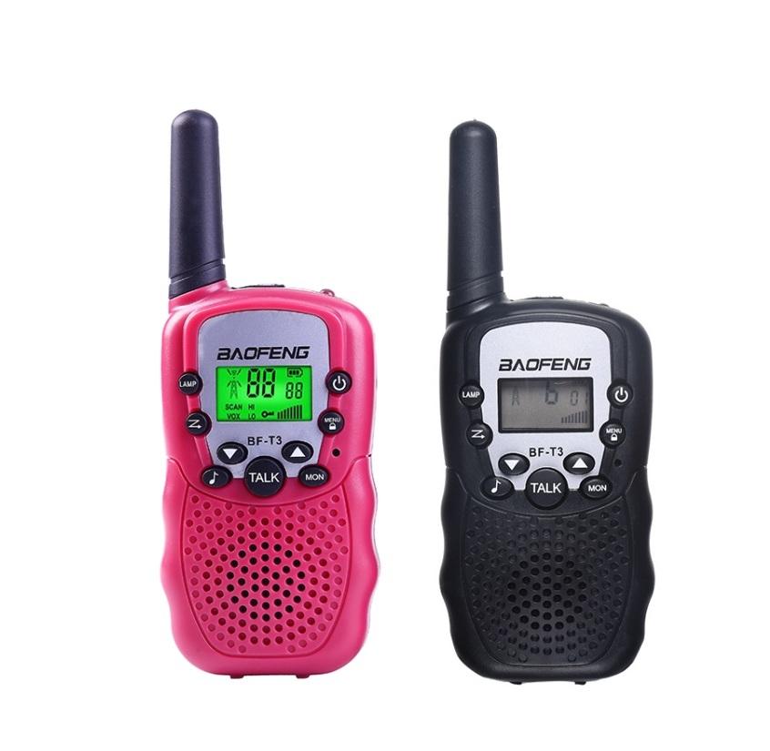 Комплект раций Baofeng BF-T3 - черная и розовая