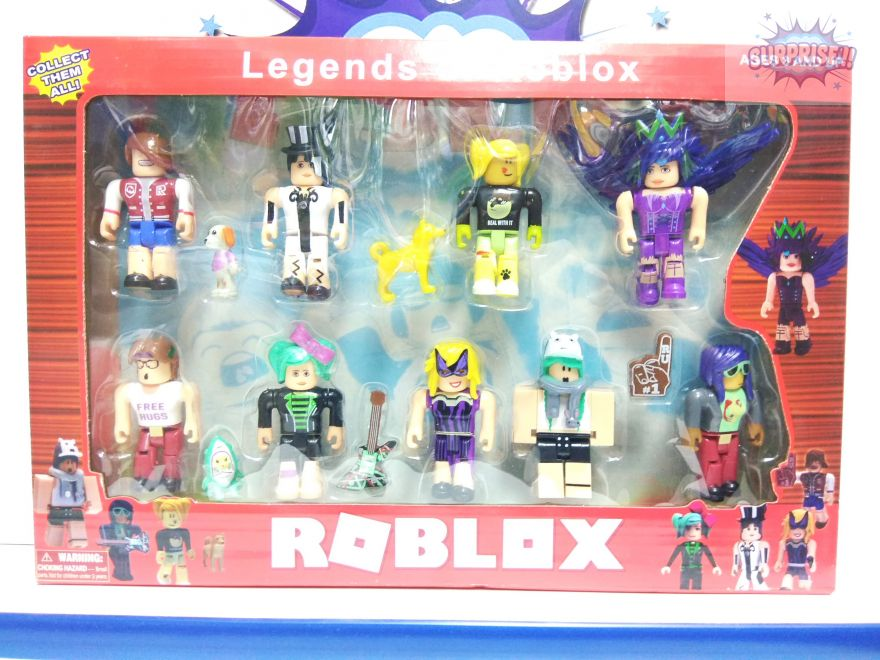 Roblox набор 9 фигурок+аксессуары 7,5 см ZG8343