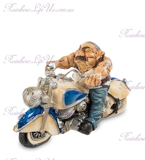 "Фигурка байкер на мотоцикле ""W.Stratford"""